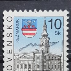 Sellos: ESLOVAQUIA_SELLO USADO_KEZMAROK_YT-SK 369 AÑO 2002 LOTE 7665. Lote 194620938