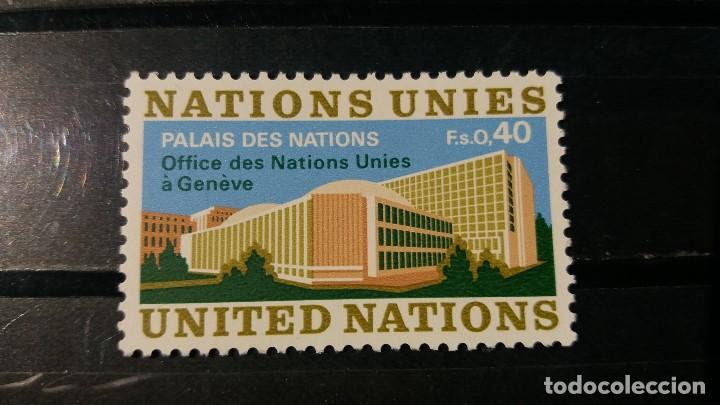 SELLO NUEVO NACIONES UNIDAS. OFICINA GINEBRA. PALACIO NACIONES GINEBRA. 5 ENERO 1972. YVERT 22. (Sellos - Extranjero - Europa - Otros paises)
