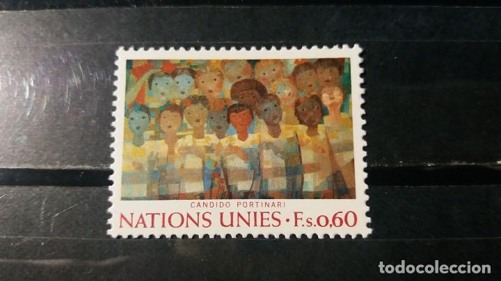 SELLO NUEVO NACIONES UNIDAS. OFICINA GINEBRA. CORO DE NIÑOS. 6 MAYO 1974. YVERT 41. (Sellos - Extranjero - Europa - Otros paises)