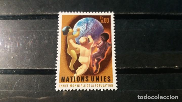 SELLO NUEVO NACIONES UNIDAS. OFICINA GINEBRA. DIA MUNDIAL POBLACIÓN. 18 OCTUBRE 1974. YVERT 44. (Sellos - Extranjero - Europa - Otros paises)