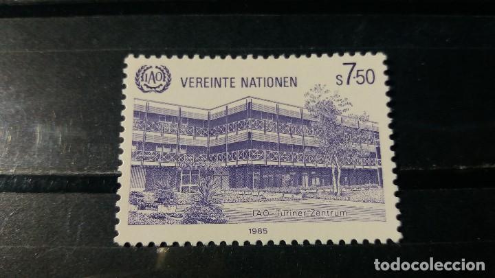SELLO NUEVO NACIONES UNIDAS.OFICINA VIENA. SEDE DE LA OIT. 1 FEBRERO 1985. YVERT 47. (Sellos - Extranjero - Europa - Otros paises)