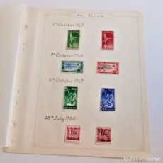 Sellos: NEW ZEALAND FOLIO COLECCION SELLOS ESTAMPS 1947-1950. Lote 195324783
