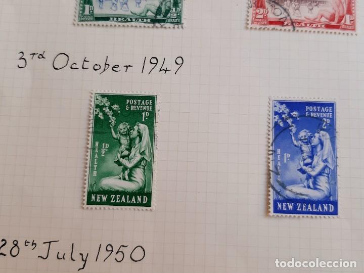 Sellos: NEW ZEALAND FOLIO COLECCION SELLOS ESTAMPS 1947-1950 - Foto 3 - 195324783