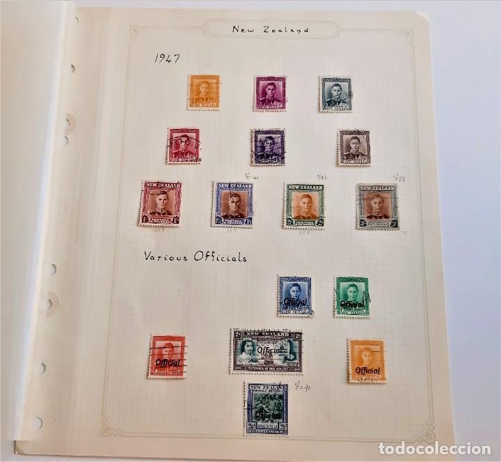 NEW ZEALAND FOLIO COLECCION SELLOS ESTAMPS 1947 (Sellos - Extranjero - Europa - Otros paises)