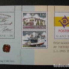 Selos: ALAND 1993 - ADMINISTRACION POSTAL - CORREOS - YVERT BLOCK 2**. Lote 198886003