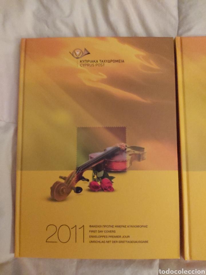Sellos: Servicio Postal de Chipre 2011: Sellos y Sobres / Dos libros, 35 paginas cada libro. - Foto 2 - 201811405