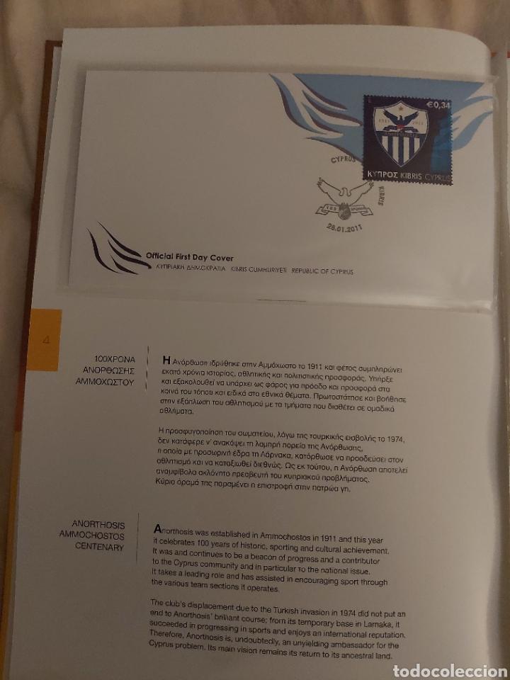 Sellos: Servicio Postal de Chipre 2011: Sellos y Sobres / Dos libros, 35 paginas cada libro. - Foto 4 - 201811405