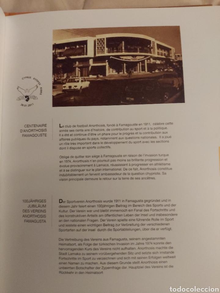 Sellos: Servicio Postal de Chipre 2011: Sellos y Sobres / Dos libros, 35 paginas cada libro. - Foto 5 - 201811405