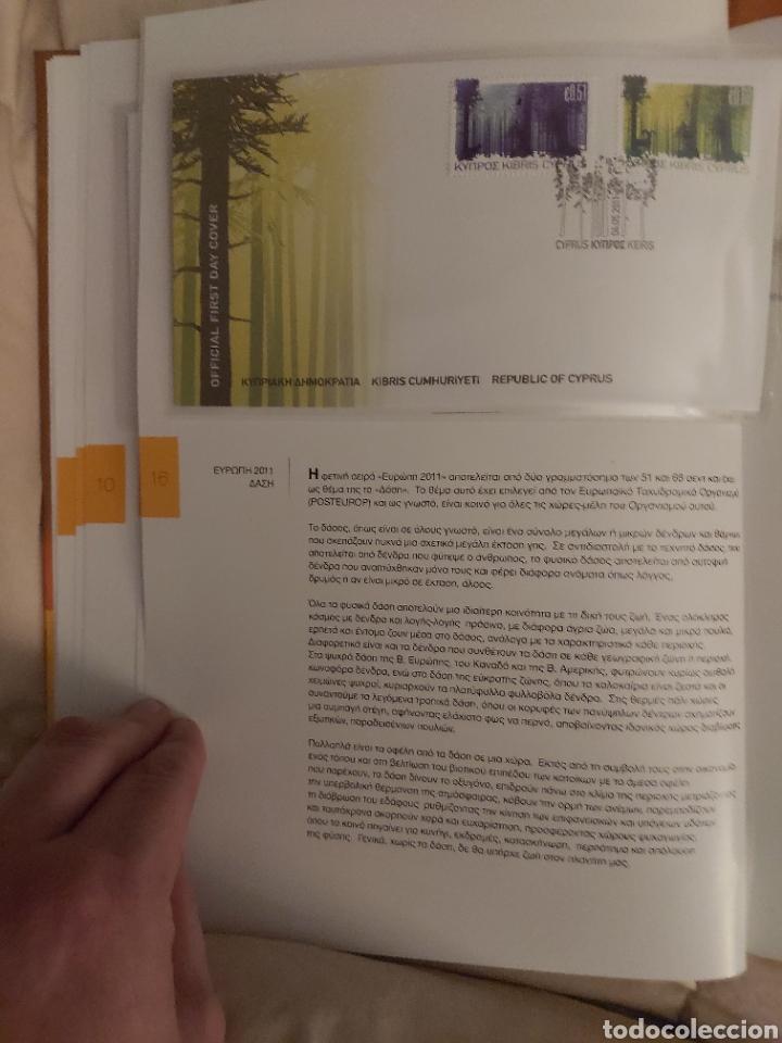 Sellos: Servicio Postal de Chipre 2011: Sellos y Sobres / Dos libros, 35 paginas cada libro. - Foto 10 - 201811405