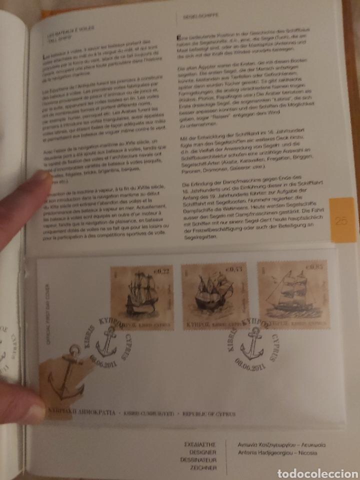 Sellos: Servicio Postal de Chipre 2011: Sellos y Sobres / Dos libros, 35 paginas cada libro. - Foto 12 - 201811405