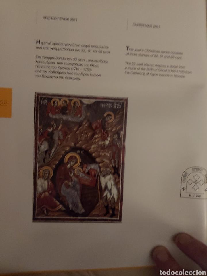 Sellos: Servicio Postal de Chipre 2011: Sellos y Sobres / Dos libros, 35 paginas cada libro. - Foto 14 - 201811405