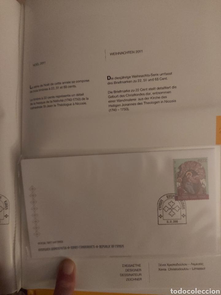 Sellos: Servicio Postal de Chipre 2011: Sellos y Sobres / Dos libros, 35 paginas cada libro. - Foto 15 - 201811405