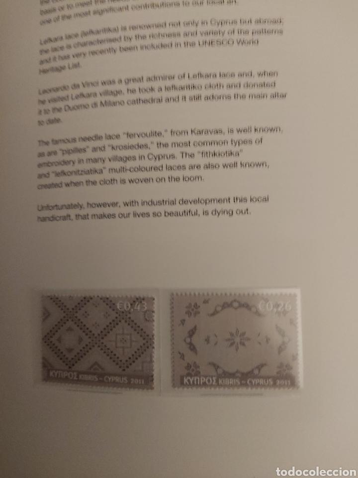 Sellos: Servicio Postal de Chipre 2011: Sellos y Sobres / Dos libros, 35 paginas cada libro. - Foto 26 - 201811405