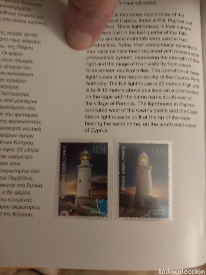 Sellos: Servicio Postal de Chipre 2011: Sellos y Sobres / Dos libros, 35 paginas cada libro. - Foto 29 - 201811405