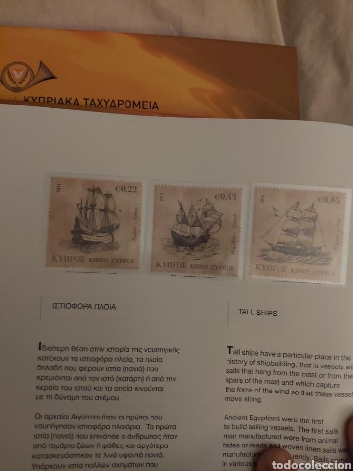 Sellos: Servicio Postal de Chipre 2011: Sellos y Sobres / Dos libros, 35 paginas cada libro. - Foto 32 - 201811405