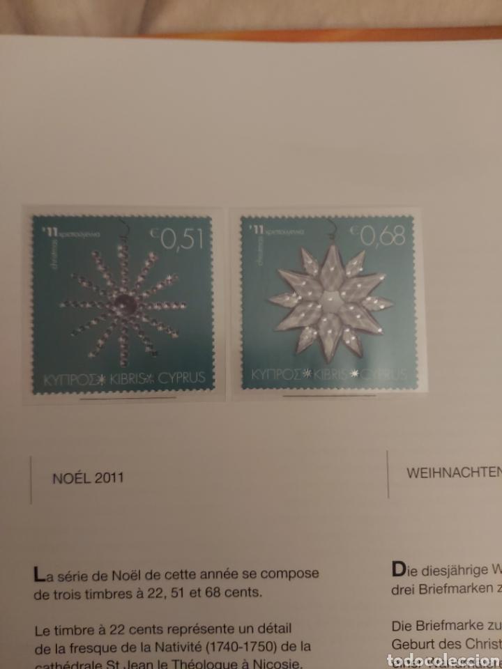 Sellos: Servicio Postal de Chipre 2011: Sellos y Sobres / Dos libros, 35 paginas cada libro. - Foto 36 - 201811405