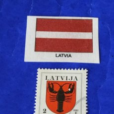 Sellos: LETONIA (A7) - 1 SELLO CIRCULADO. Lote 202110616