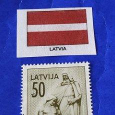 Sellos: LETONIA (B) - 1 SELLO CIRCULADO. Lote 202110748