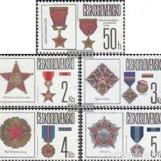 Sellos: CHECOSLOVAQUIA 1987 IVERT 2709/13 *** CONDECORACIONES DEL ESTADO DE LA REPUBLICA CHECOSLOVACA. Lote 202562863