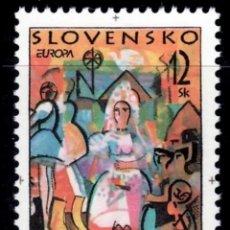 Sellos: ESLOVAQUIA,MNH, ARTE, PINTURA, EUROPA CEPT 1998 (FOTOGRAFÍA ESTÁNDAR). Lote 202578912