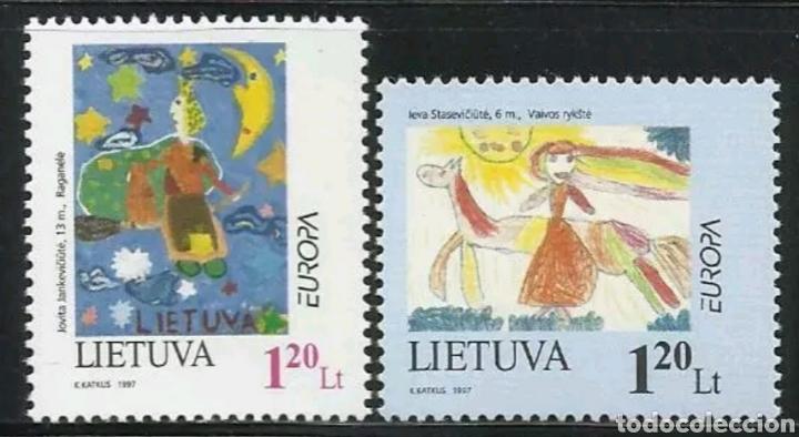LITUANIA, MNG, CUENTOS Y LEYENDAS, EUROPA CEPT 1997 (FOTOGRAFÍA REAL) (Sellos - Extranjero - Europa - Otros paises)