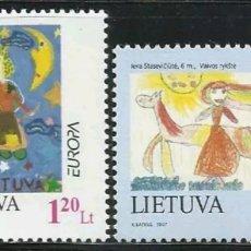 Sellos: LITUANIA, MNG, CUENTOS Y LEYENDAS, EUROPA CEPT 1997 (FOTOGRAFÍA REAL). Lote 202627570