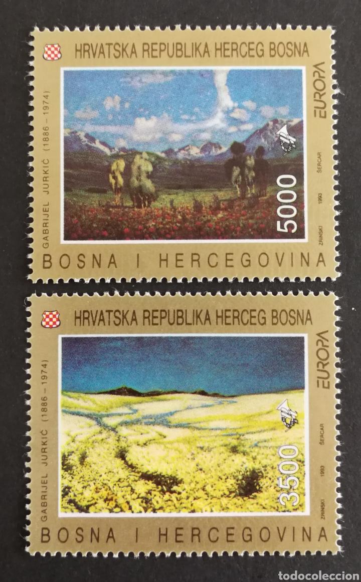 BOSNIA HARCEGOBINA, EUROPA 1993,ARTE CONTEMPORÁNEO, SIN GOMA (FOTOGRAFÍA REAL) (Sellos - Extranjero - Europa - Otros paises)