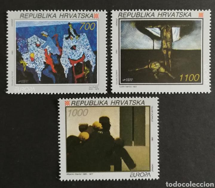 CROACIA, MNG, EUROPA CEPT 1993,ARTE CONTEMPORÁNEO (FOTOGRAFÍA REAL) (Sellos - Extranjero - Europa - Otros paises)