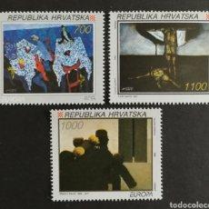 Sellos: CROACIA, MNG, EUROPA CEPT 1993,ARTE CONTEMPORÁNEO (FOTOGRAFÍA REAL). Lote 203269500