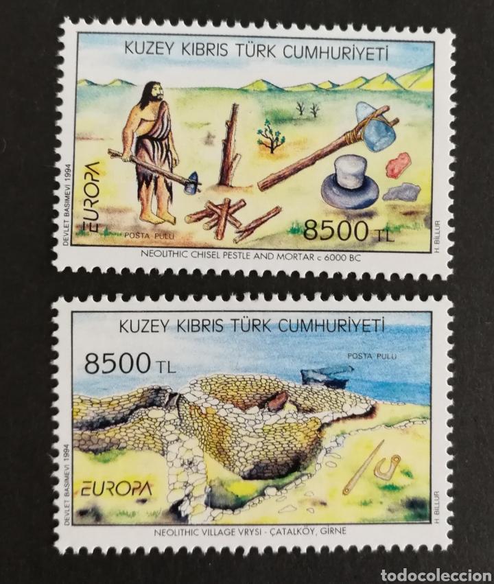 CHIPRE TURCO, EUROPA Y LOS DESCUBRIMIENTOS 1994, MNH (FOTOGRAFÍA REAL) (Sellos - Extranjero - Europa - Otros paises)