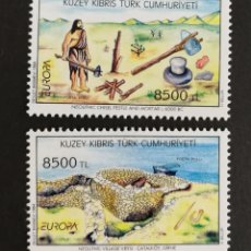 Sellos: CHIPRE TURCO, EUROPA Y LOS DESCUBRIMIENTOS 1994, MNH (FOTOGRAFÍA REAL). Lote 203329747