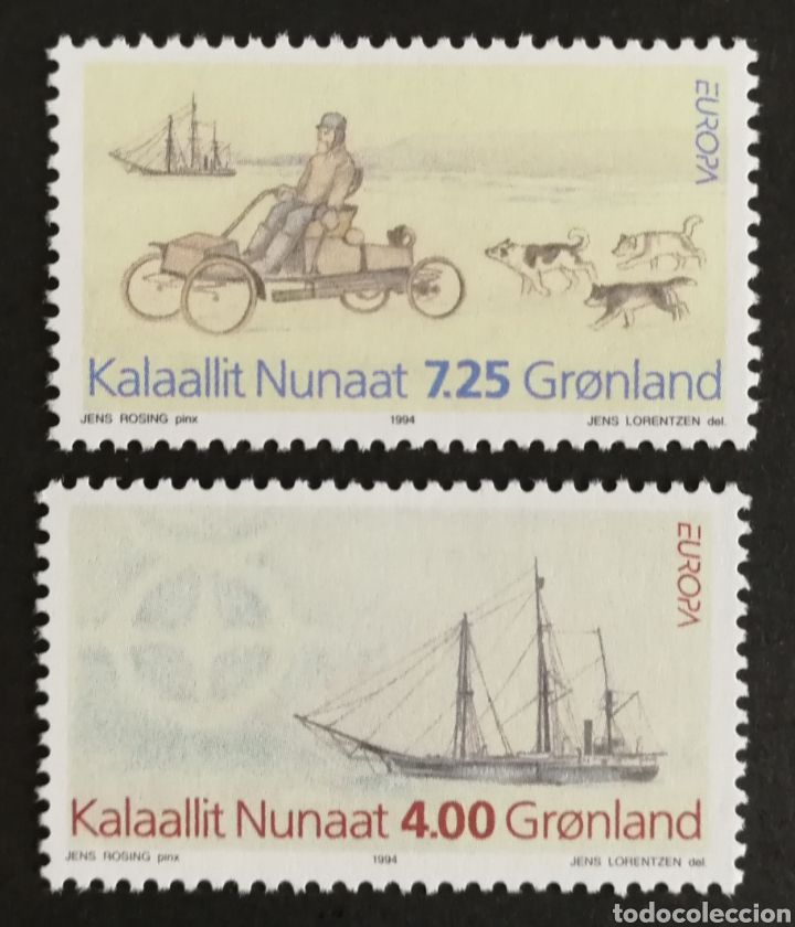 GROENLANDIA, EUROPA Y LOS DESCUBRIMIENTOS 1994, MNG (FOTOGRAFÍA REAL) (Sellos - Extranjero - Europa - Otros paises)