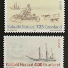 Sellos: GROENLANDIA, EUROPA Y LOS DESCUBRIMIENTOS 1994, MNG (FOTOGRAFÍA REAL). Lote 203331002