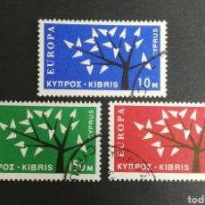 Sellos: CHIPRE, EUROPA CEPT 1962 USADOS (FOTOGRAFÍA REAL). Lote 204110233