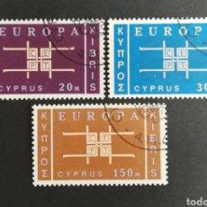 Sellos: CHIPRE, EUROPA CEPT 1963 USADOS (FOTOGRAFÍA REAL). Lote 204110503