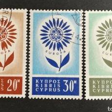 Sellos: CHIPRE, EUROPA CEPT 1964 USADOS (FOTOGRAFÍA REAL). Lote 204110710