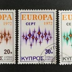 Sellos: CHIPRE, EUROPA CEPT 1972 USADA (FOTOGRAFÍA REAL). Lote 204116692