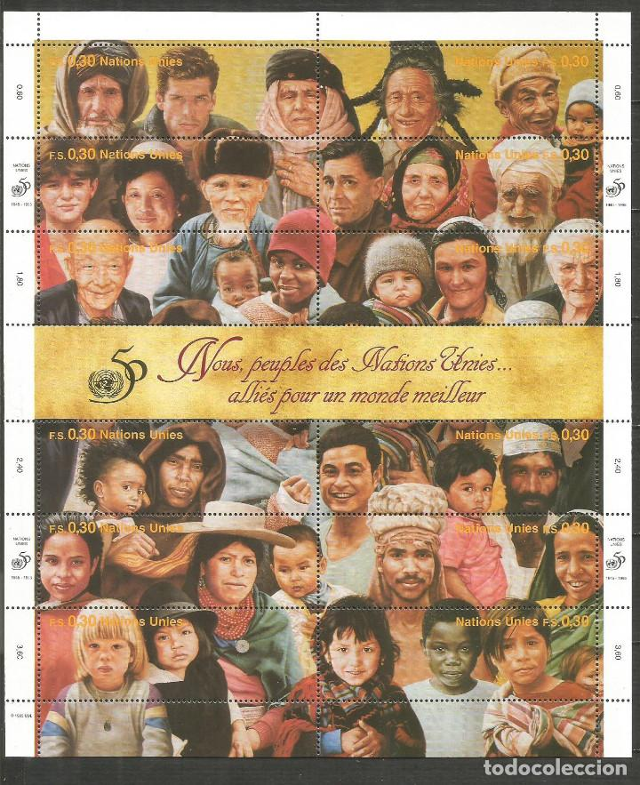 NACIONES UNIDAS HOJITA 50 ANIVERSARIO ** NUEVA (Sellos - Extranjero - Europa - Otros paises)