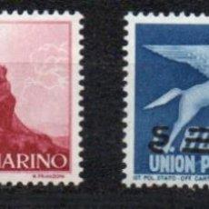 Sellos: SAN MARINO AÑO 1957 YV 23/24*** CORREO URGENTE EXPRESS. Lote 204610633