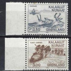 Selos: GROENLANDIA 1981 - CULTURAS ANTIGUAS, S.COMPLETA - SELLOS NUEVOS ** (LEER). Lote 204667221