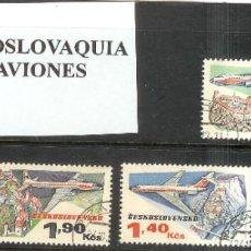 Sellos: LOTE DE SELLOS DE CHECOSLOVAQUIA. SERIE AVIONES. Lote 204756252