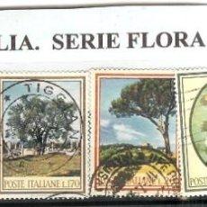 Sellos: LOTE DE SELLOS DE ITALIA. SERIE FLORA. Lote 204757281