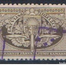 Sellos: LETONIA // YVERT 7 TJ // 1928-38 ... USADO. Lote 205559030