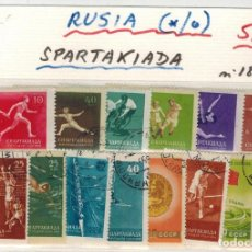 Sellos: SERIE COMPLETA SELLOS DE RUSIA SPARTAKIADA AÑO 1956. Lote 205666705