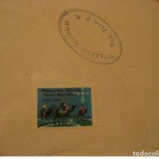 Timbres: SAN JUAN 1959 FELIZ NAVIDAD POSTER STAMP LABEL SEAL VIGNETTE METER AIR MAIL CANC. Lote 205903413