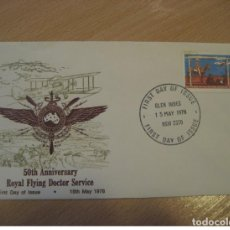 Sellos: GLEN INNES 1978 YVERT 630 ROYAL FLYING DOCTOR SERVICE FDC CANCEL COVER AUSTRALIA. Lote 227200505