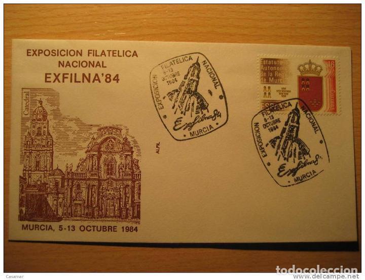 MURCIA 1984 Exfilna 84 Correo Arabe Caballo Horse Catedral Cathedral Iglesia Chu, usado segunda mano