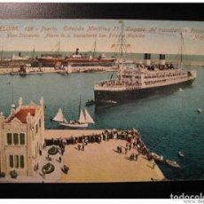 Sellos: BARCELONA PORT HARBOUR MS PRICIPESSA MAFALDA LINER CATALONIA SPAIN POST CARD. Lote 205997248