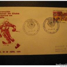 Timbres: SPAIN VIELLA VALL D´ ARAN LERIDA LLEIDA 1979 SKI SKIING CONVENCION LIONS CLUB L. Lote 206012116