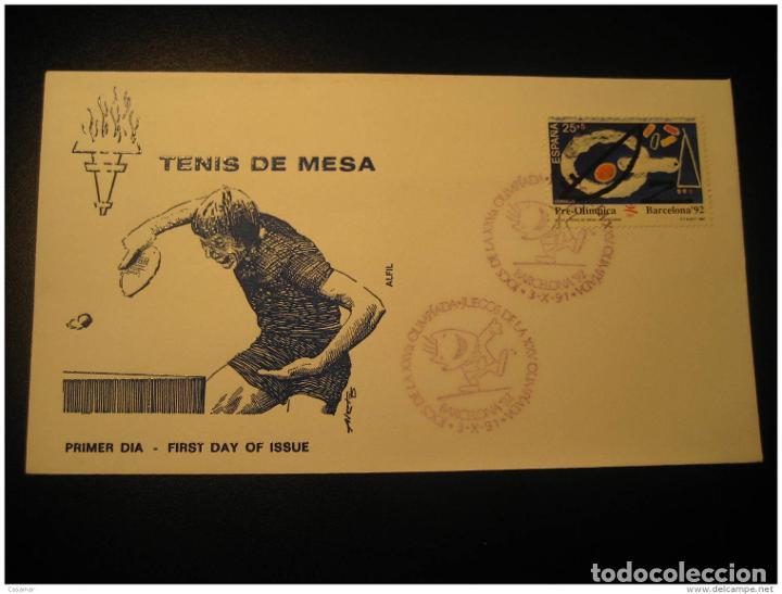 Barcelona 1991 Table Tennis Tenis De Mesa Ping Pong 92 Olympic Games Olympics Co segunda mano
